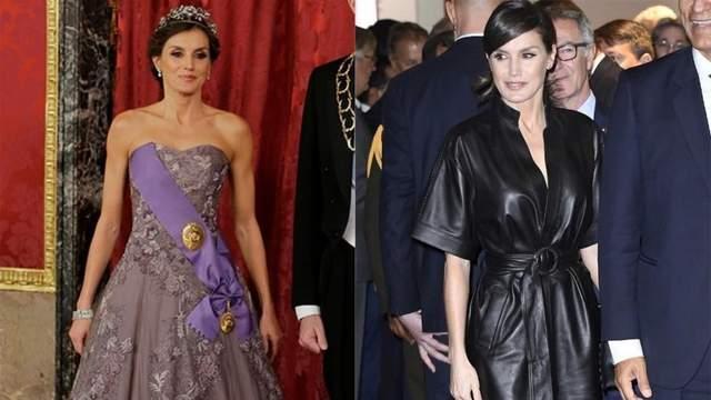 Современная королева: Летиция сменила пышное платье на кожаный обольстительный наряд