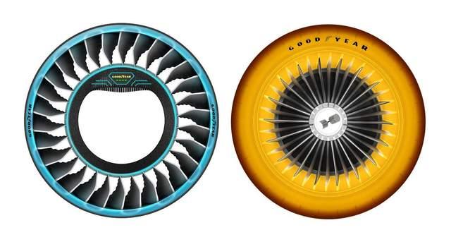 Компания Goodyear создала шину, которая превращается в пропеллер (видео)