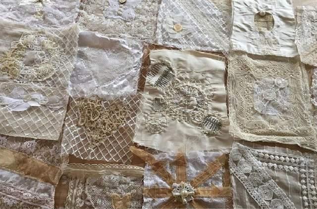 Женщина создала для себя невероятный свадебный наряд из лоскутков платьев своих знакомых: фото