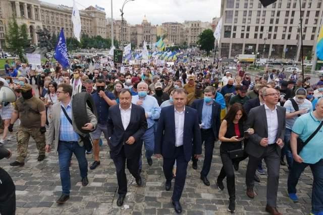 Петро Порошенко, протест на Банковій