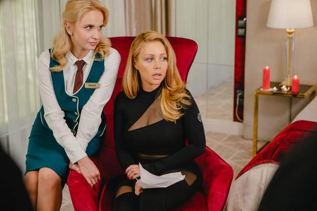 Тіна Кароль і Лілія Ребрик на зйомках серіалу