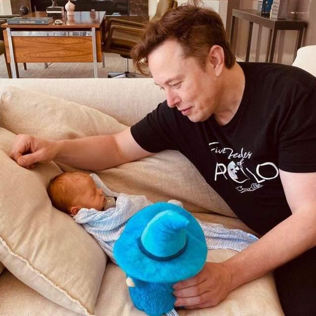 Ілон Маск з сином