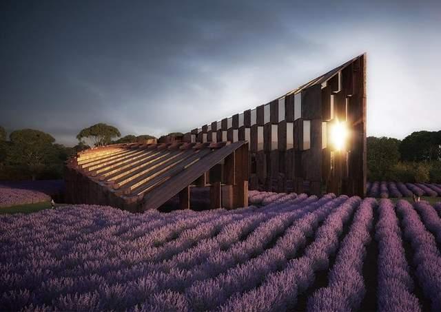 Колизей посреди поля лаванды: фото гламурного отеля из Австралии
