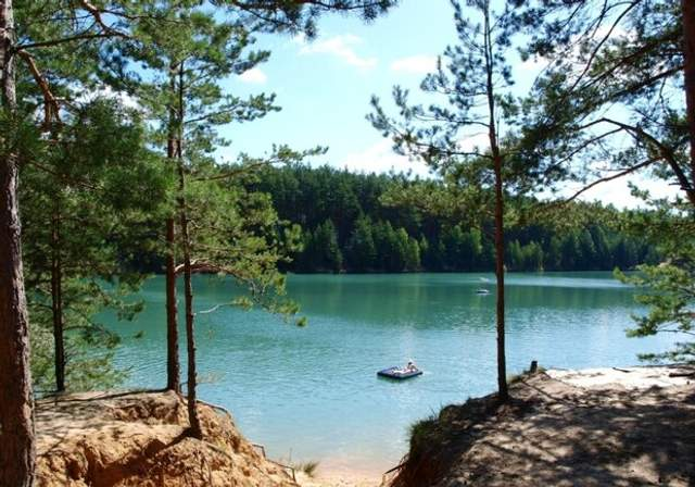 Голубе озеро