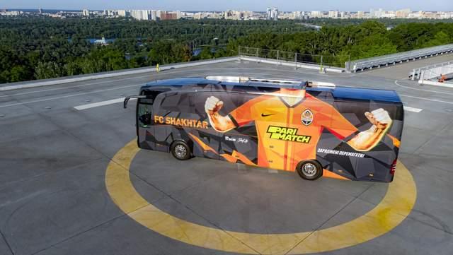 С историческим подтекстом: 'Шахтер' представил новый дизайн клубного автобуса – фото