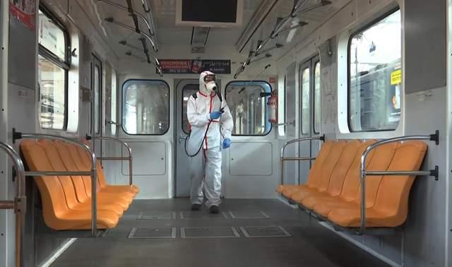 Дезінфекція метро в Києві