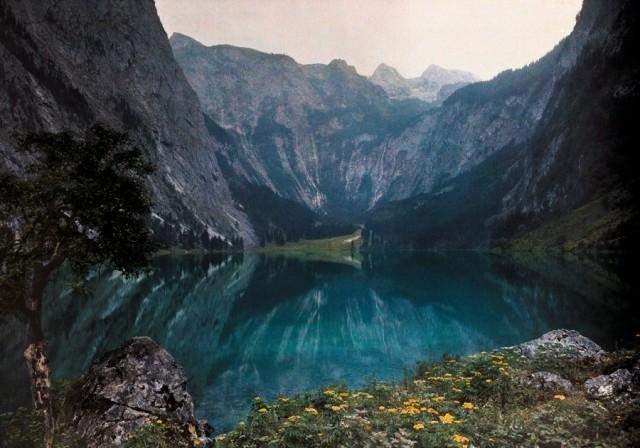 Льодовикове озеро в горах Баварії, Німеччина