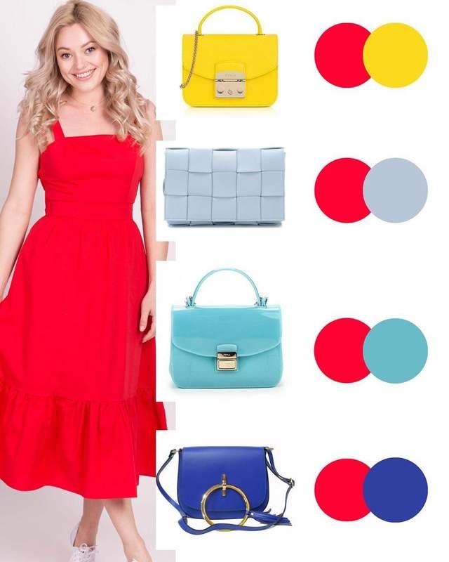 Які сумки пасують до червоної сукні