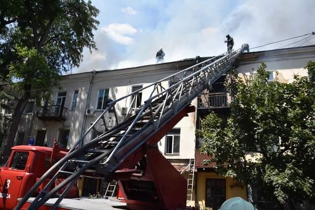 Пожежа в Одесі 12 липня