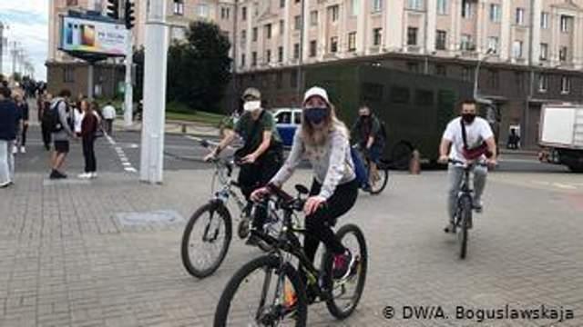 На мітингу були й велосипедисти