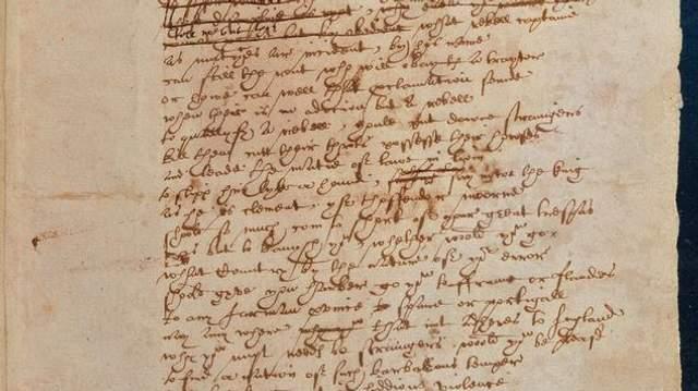 Почерк Вільяма Шекспіра