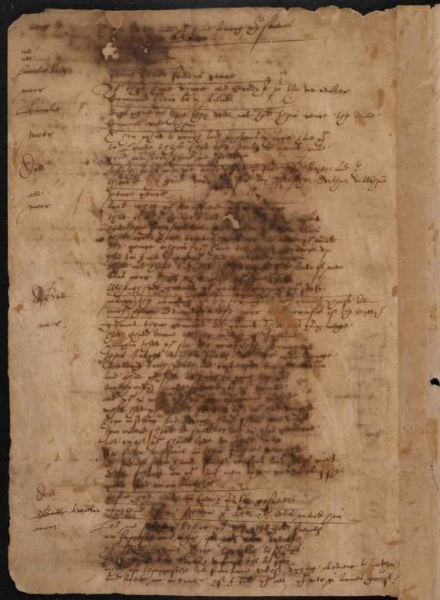 Рукопис Вільяма Шекспіра