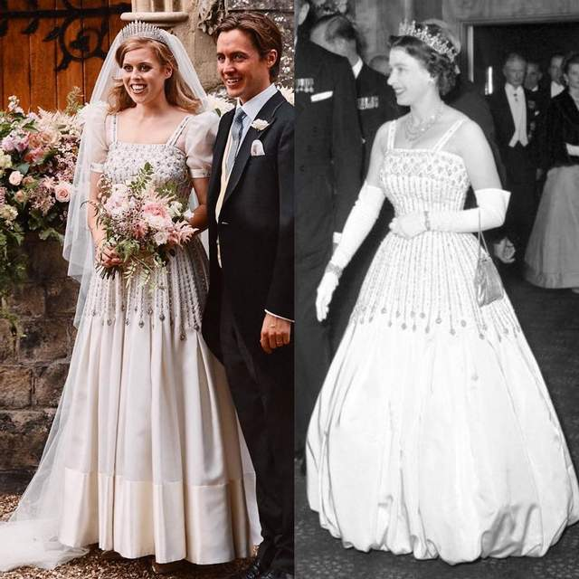 Принцеса Беатріс одягнула сукню своєї бабусі