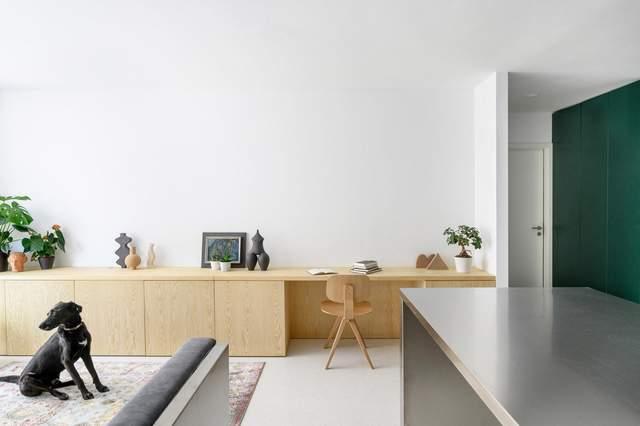 Многофункциональная мебель и собака: фото стильной двухкомнатной квартиры из Словении