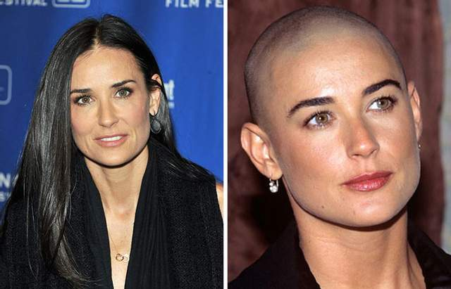Демі Мур поголила голову для фільму