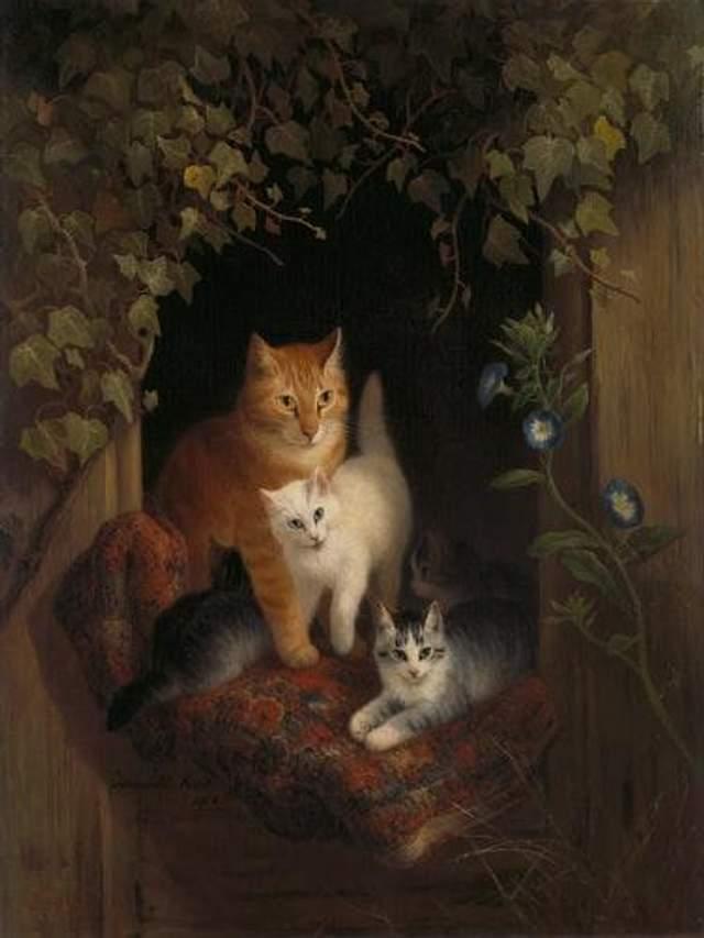 Кішки в історії мистецтва