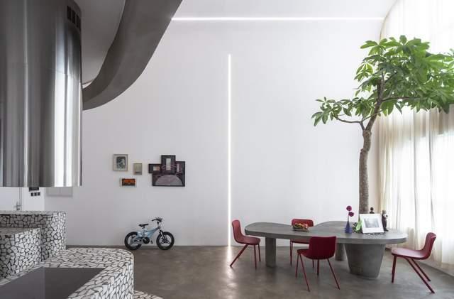 У квартирі передбачена бібліотека та дитяча кімната / Фото Archdaily