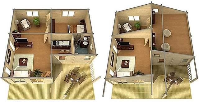 Для продажу доступні два варіанти планування / Фото Boredpanda