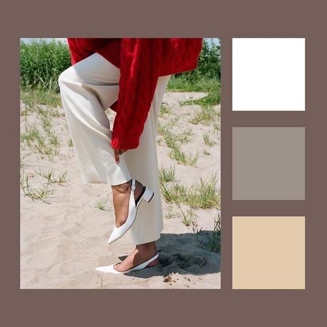 Поєднання кольорів з червоним вбранням