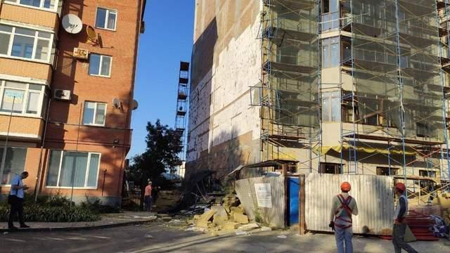 У Полтаві на будівництві обвалилося риштування