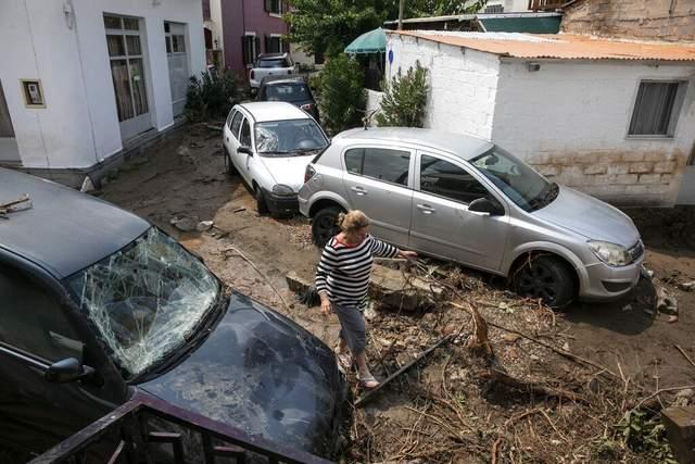 шторм греція