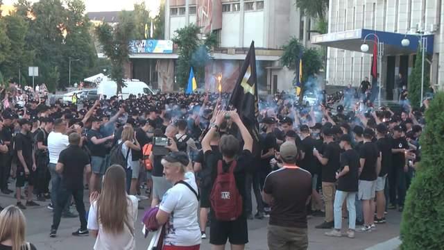 """Активісти організації """"Гідність нації"""" відзначили День Державного Прапора України: фото, відео"""