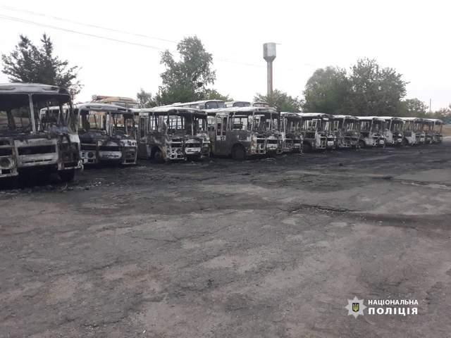 У Черкаській області згоріли автобуси