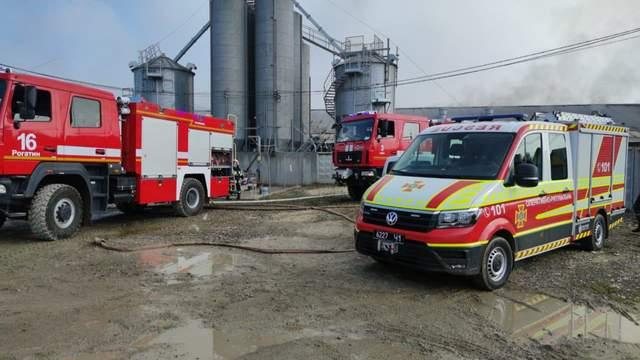 Пожежана свинофермі  в селі Тустань