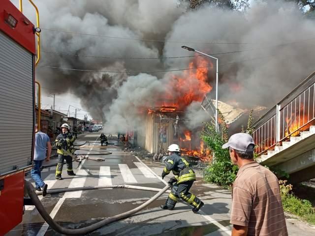 Пожежа трапилася у селищі Коцюбинське