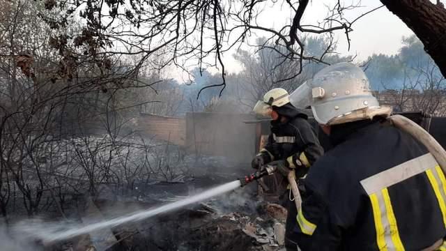 Пожежі Харківщина рятувальники