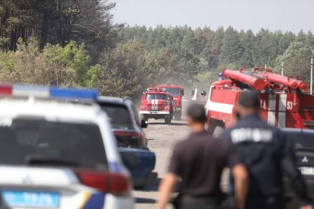 Пожежі Харківщина Луганщина