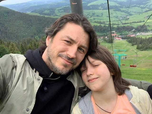 Сергій Притула з сином на відпочинку