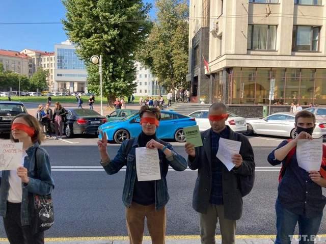 Акція студентів у Мінську