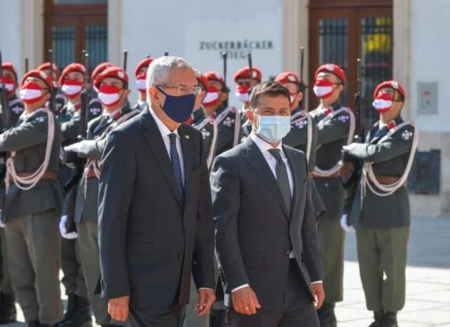 Зеленський зустрівся з президентом Австрії