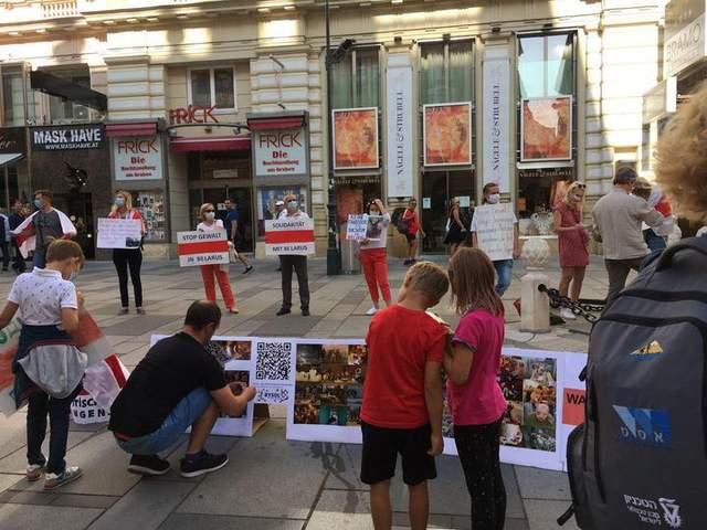 Акції на підтримку білорусів за кордоном