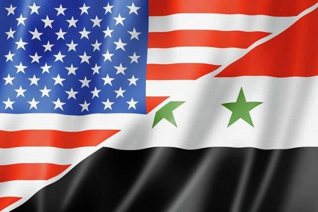 Прапор США та Сирії