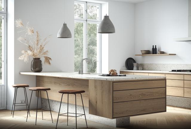 Дизайн інтер'єру кухні суміщеної з залом фото