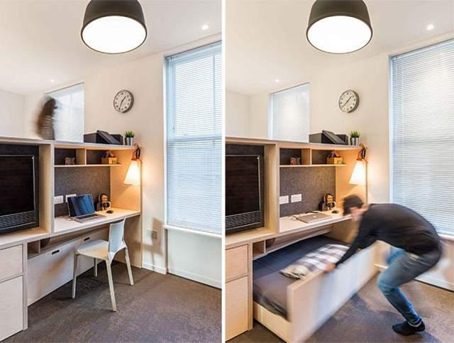 Выдвижная кровать - хорошая идея для обустройства гаража