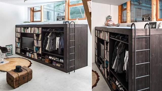 Мебель в жилом гараже могут быть стильными