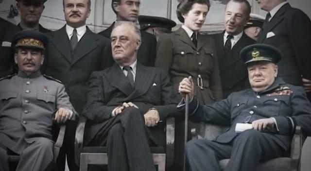 Сталін, Рузвельт та Черчиль