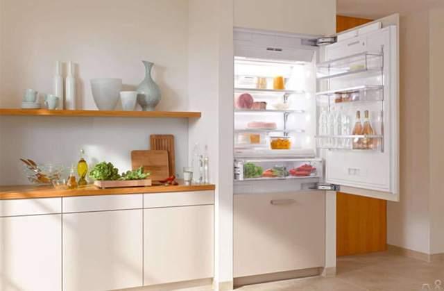 Дизайн встроенных холодильных камер выглядит прекрасно