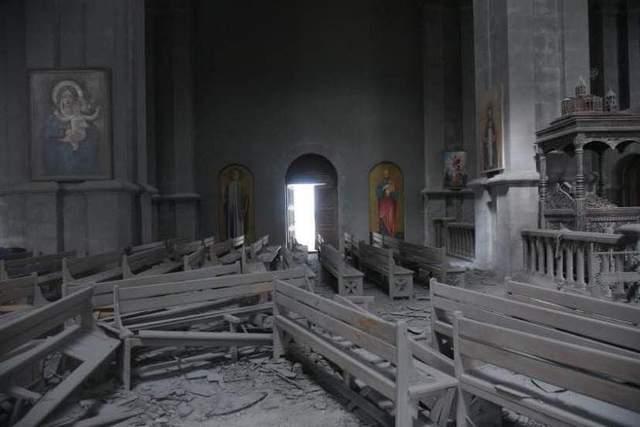 собор у Шуші, обстріл
