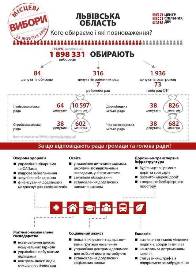 Львівська область; кого обираємо та для чого - вибори 2020