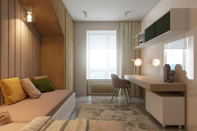 Меблі в кімнатах виконані в єдиному стилі