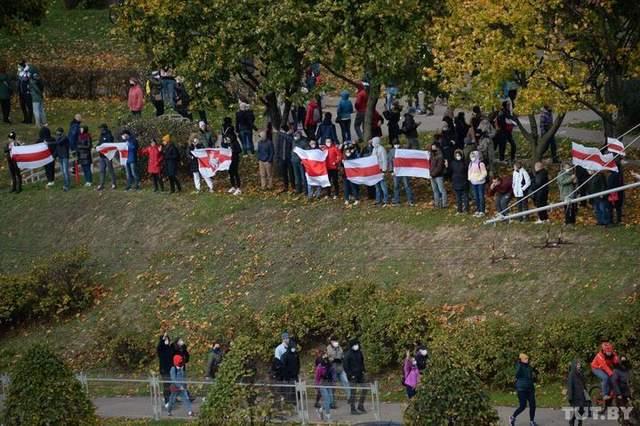 Брест, Ланцюг солідарності, протести в Білорусі, 18 жовтня