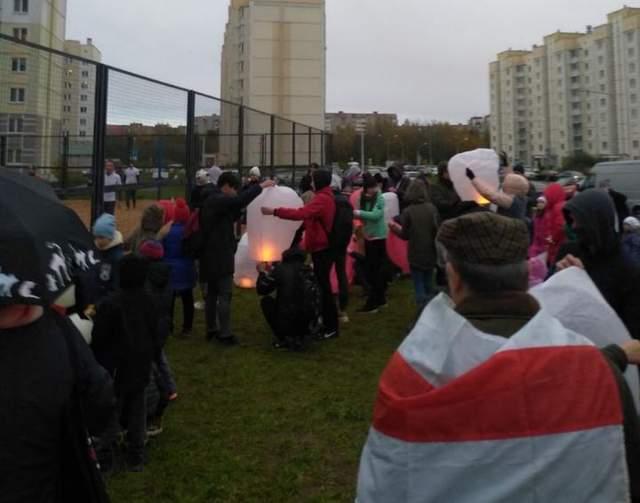 Новополоцьк, Білорусь, протести, 18 жовтня