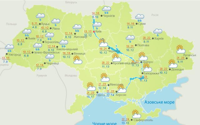 погода інфографіка карта мапа