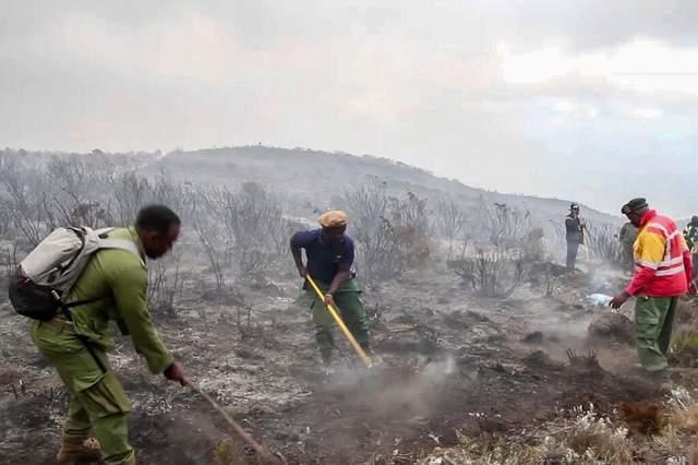 пожежа ан схилах кіліманджаро