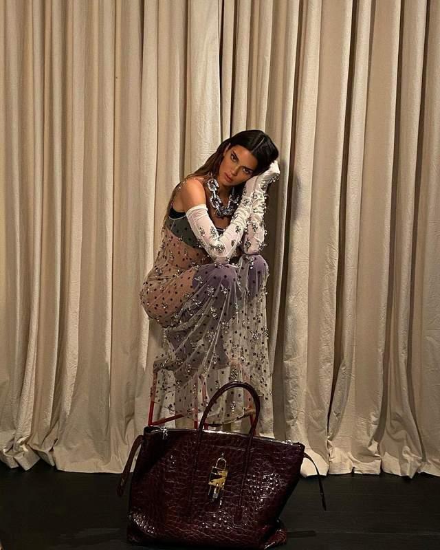 Кендалл Дженнер у прозорій сукні від Givenchy