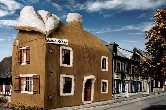 Стилізоване зображення утеплення будинку